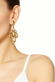 Russian Teardrop Earrings by Oscar de la Renta