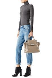 Studded Eartha Iconic Top Handle Bag by ZAC Zac Posen Handbags