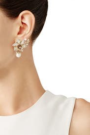 Eternal Garden Flower Drop Earrings by Marchesa Jewelry
