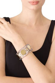 Clear Geo Lucite Cuff by Tory Burch Accessories