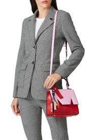 Pink M Satchel by MSGM Handbags