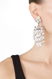 White Lionel Earrings by Dannijo