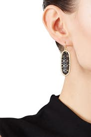 Black and Gold Lattice Drops by Slate & Willow Accessories