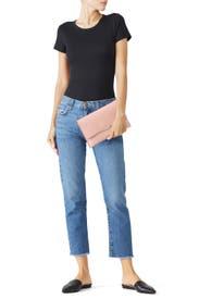 Pink Envelope Clutch by Loeffler Randall