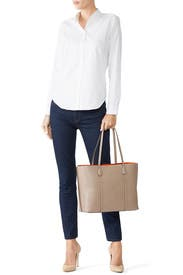 Grey Heron Perry Tote by Tory Burch Accessories