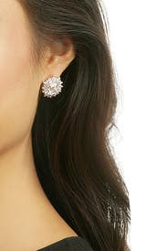 Crystal Rays Stud Earring by Kenneth Jay Lane