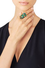Emerald Cluster Ring by Erickson Beamon