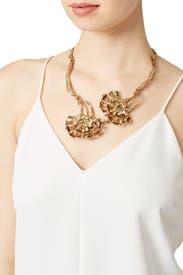 Light Gold Carnation Necklace by Oscar de la Renta