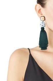 Green Tassel Earrings by Tory Burch Accessories