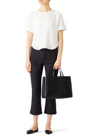 Black Block-T Tote by Tory Burch Accessories