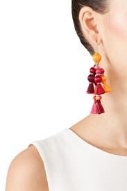 Multi Pretty Poms Tassel Earrings by kate spade new york accessories