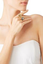 Black Diamond Bouquet Ring by Oscar de la Renta