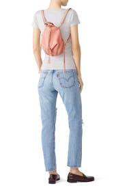 Peach Mini Julian Backpack by Rebecca Minkoff Accessories