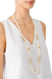 Capped Pearl Necklace by Tory Burch Accessories