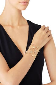 Gold Dot Cuff by Sarah Magid