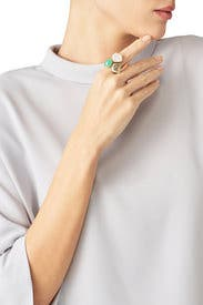Triple Stone Ring by Alexis Bittar