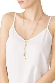 Gold Charm Link Lariat by Rebecca Minkoff Accessories