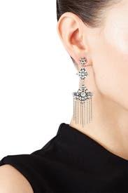 Silver Tassel Chandelier Earrings by Ettika
