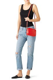 Red Croc Mini Sac by Clare V.