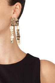 Pinned Paillette Earrings by Eddie Borgo
