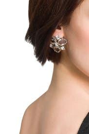 Crystal Cluster Earrings by Badgley Mischka Jewelry