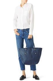 Navy Bibi Tote by Annabel Ingall
