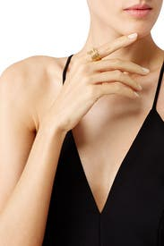 Gold Roxy Ring by Elizabeth and James Accessories