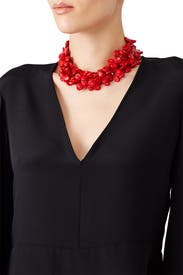 Dark Coral Collar by Kenneth Jay Lane