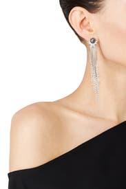 Grey Pearl Spike Burst Earrings by Danielle Nicole