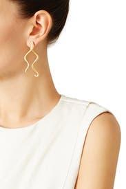 Russian Gold Wave Earrings by Oscar de la Renta