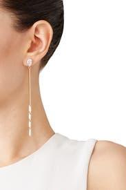 Electric Fringe Linear Drop Earrings by Eddie Borgo