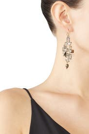 Brutalist Stone Wire Earrings by Alexis Bittar