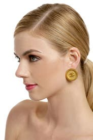 Vintage Chanel Round CC Earring by Decades Vintage