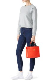 Red Kira Small Tote by Tory Burch Accessories