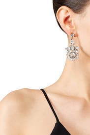 Gilded Dazzle Statement Earrings by Slate & Willow Accessories