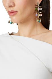 Multi Crystal Chandelier Earrings by Slate & Willow Accessories