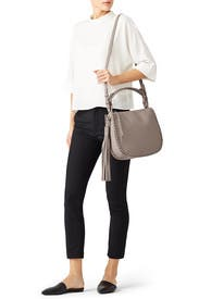 Taupe Grey Mori Hobo Bag by AllSaints