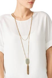 Hibiscus Tassel Necklace by Lulu Frost