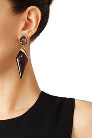 Black Cherry Dagger Earrings by Alexis Bittar
