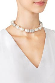 Pearl Pave Choker by Kenneth Jay Lane