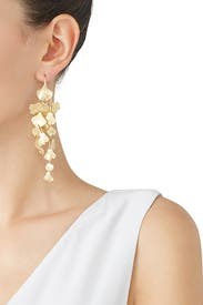 Ginko Leaf Earrings by Tory Burch Accessories
