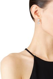Brilliant Crown Earrings by Kenneth Jay Lane