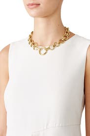 Gold O-Ring Chain Necklace by Eddie Borgo