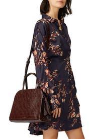Dark Brown Clarice Satchel Bag by Loeffler Randall