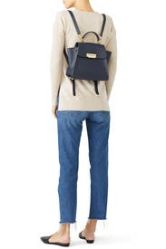 Navy Eartha Iconic Backpack by ZAC Zac Posen Handbags