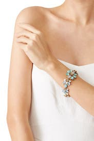 Mixed Stone Floral Bracelet by Marchesa Jewelry