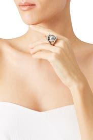 Silver Pinball Ring by Lele Sadoughi