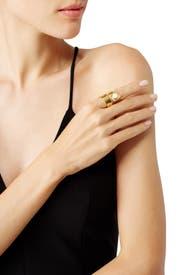 Gold Escher Ring by Lizzie Fortunato