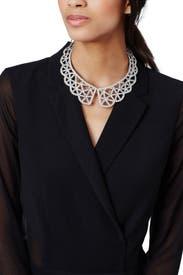 Crystal Web Necklace by Oscar de la Renta