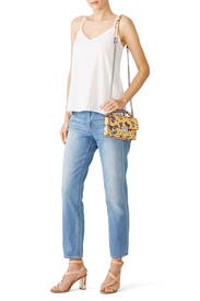 Yellow Floral Christy Crossbody by Rebecca Minkoff Accessories